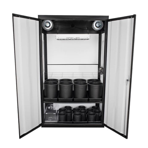 Grow Cabinents - SuperCloset SuperNova LED Soil Grow Cabinet