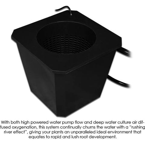 Hydroponic Grow Systems - SuperCloset 12-Site Bubble Flow Buckets Hydroponic Grow System