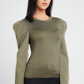 Khaki Long Sleeve Top
