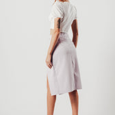 Lilac Asymmetric Skirt With O-Ring Detail