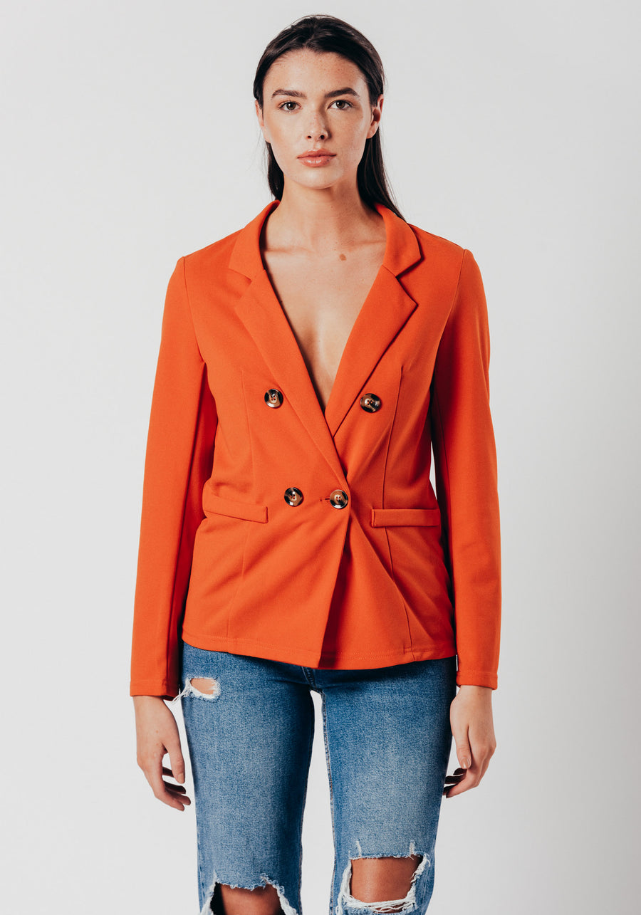 Orange Blazer with 4 buttons