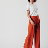 Burnt Orange Flared Trousers