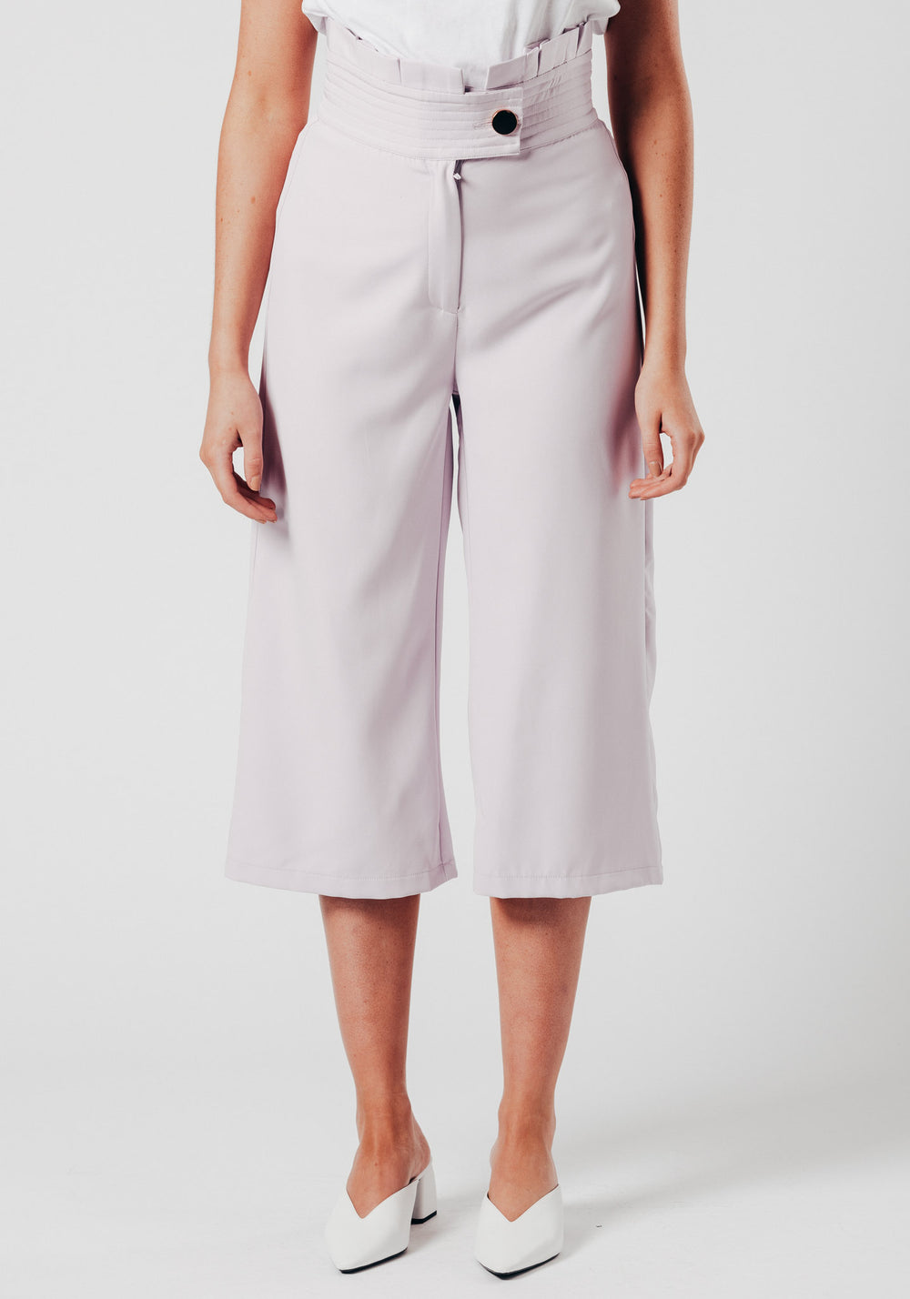 Purple High Waist Trousers