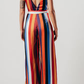 Multi-Coloured Split Leg Jumpsuit