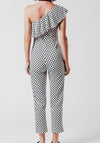 Polka Dot One Shoulder Jumpsuit