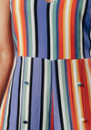 Multi-Coloured Stripe Split Leg Jumpsuit.