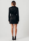 Black Wrap Over Blazer Dress