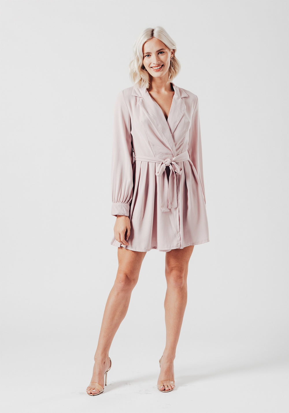 Pink Skater Wrap Over Dress !