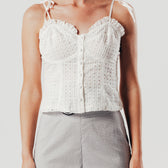 White Broidery Vest Top