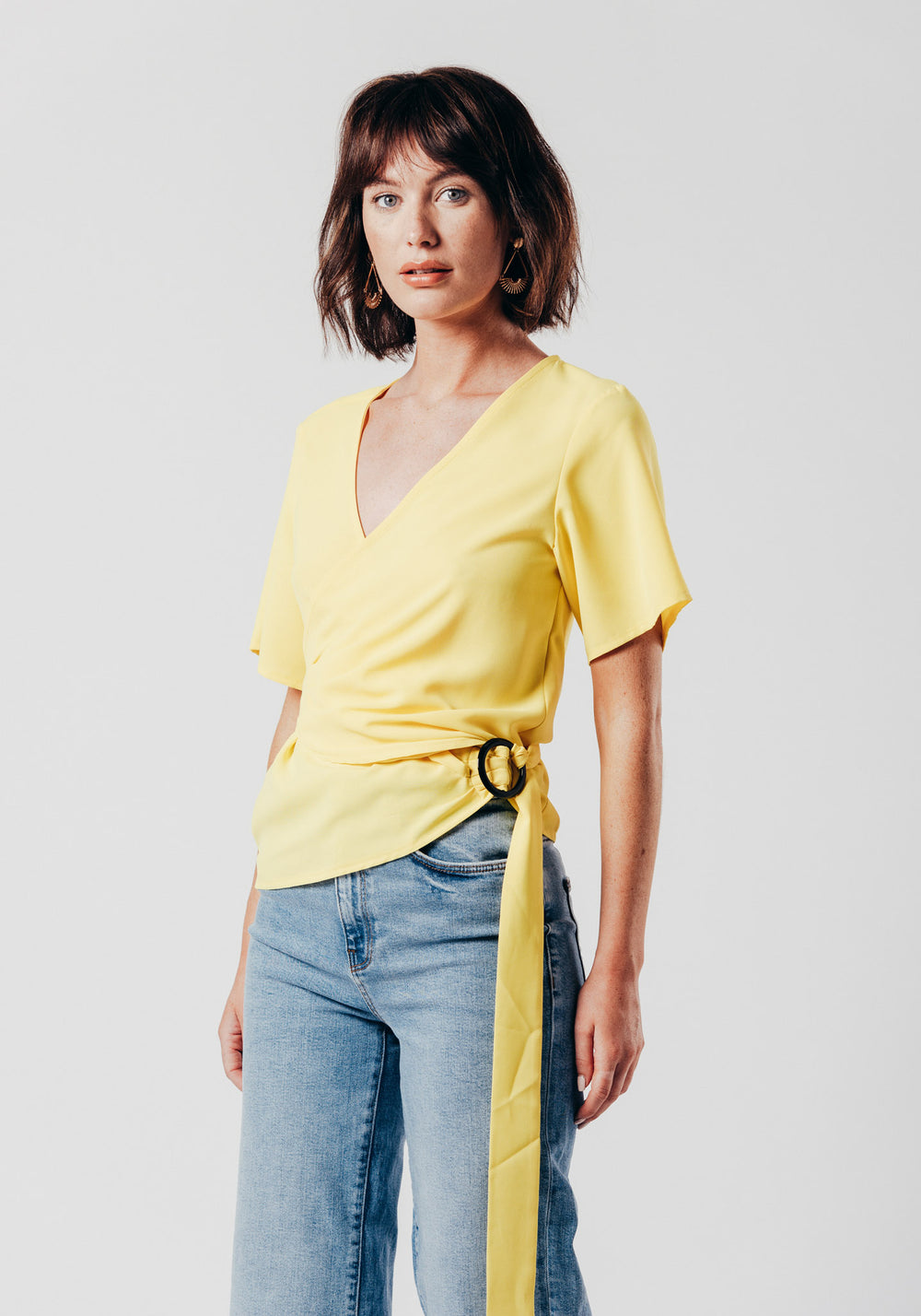 Yellow Wrap Over Top