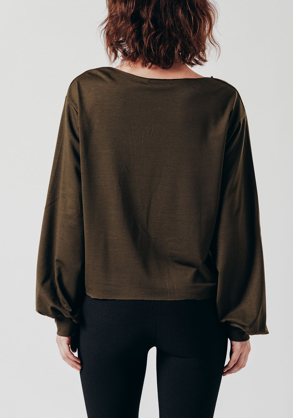 Green Drop Shoulder Top