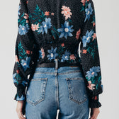 Long Blossom Sleeve Top in Floral Print