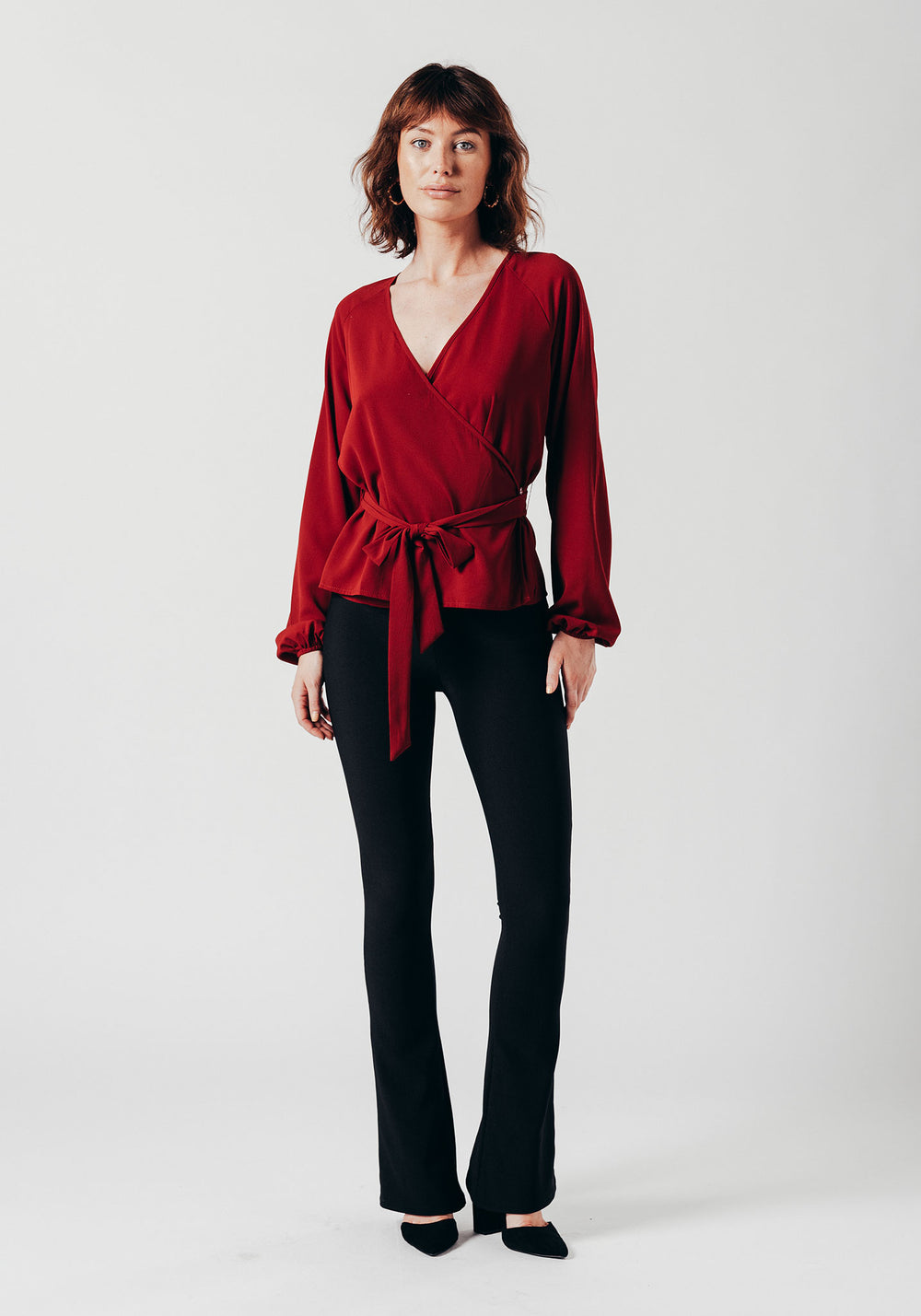 Red Wrap Over Top