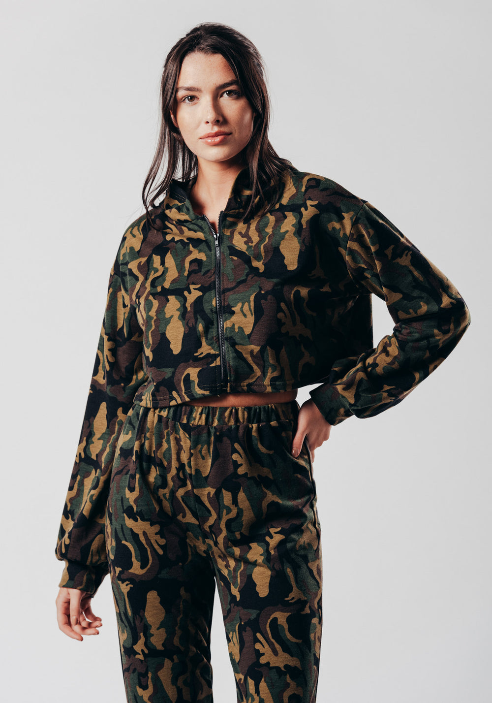 Green Camo Print Lounge Tracksuit