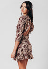 Open Back Floral Mini Dress