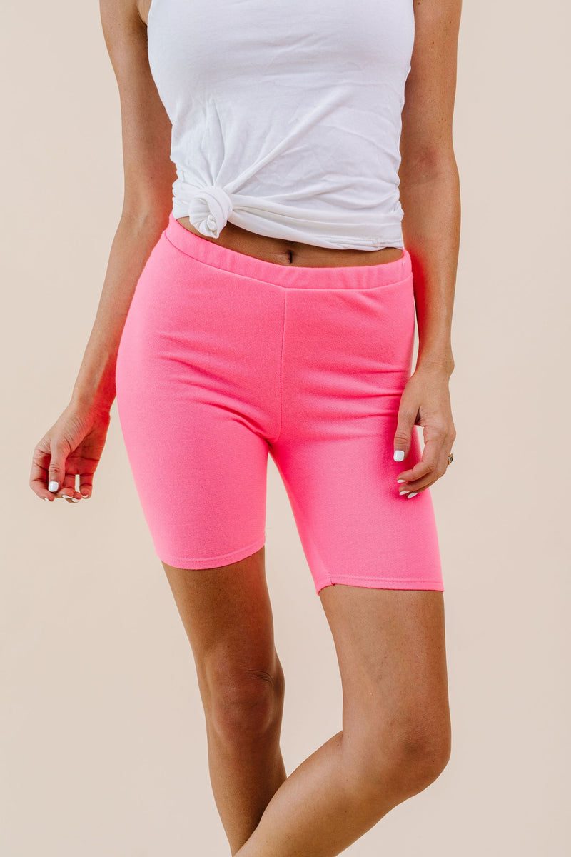To Lounge Or Bike Shorts In Hot Pink