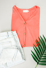 Button-down Comfort In Coral