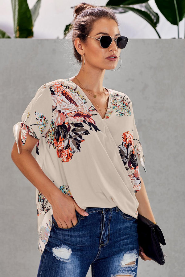 Spring in Bloom Wrap Front Blouse