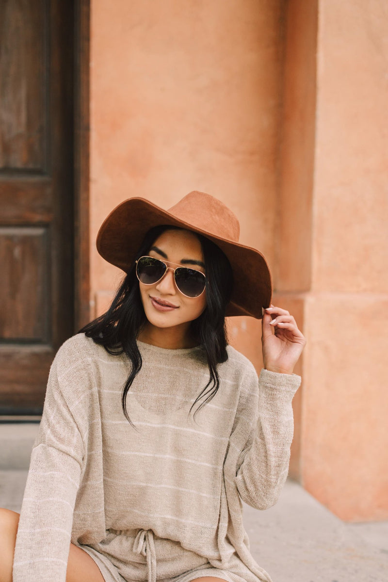 Suede In The Shade Hat In Camel