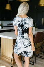 Arctic Waters Tie Dye T-Shirt Dress