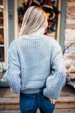 Chunky + Cropped Gray Sweater