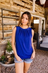 Elaine Elegant Tank In Royal
