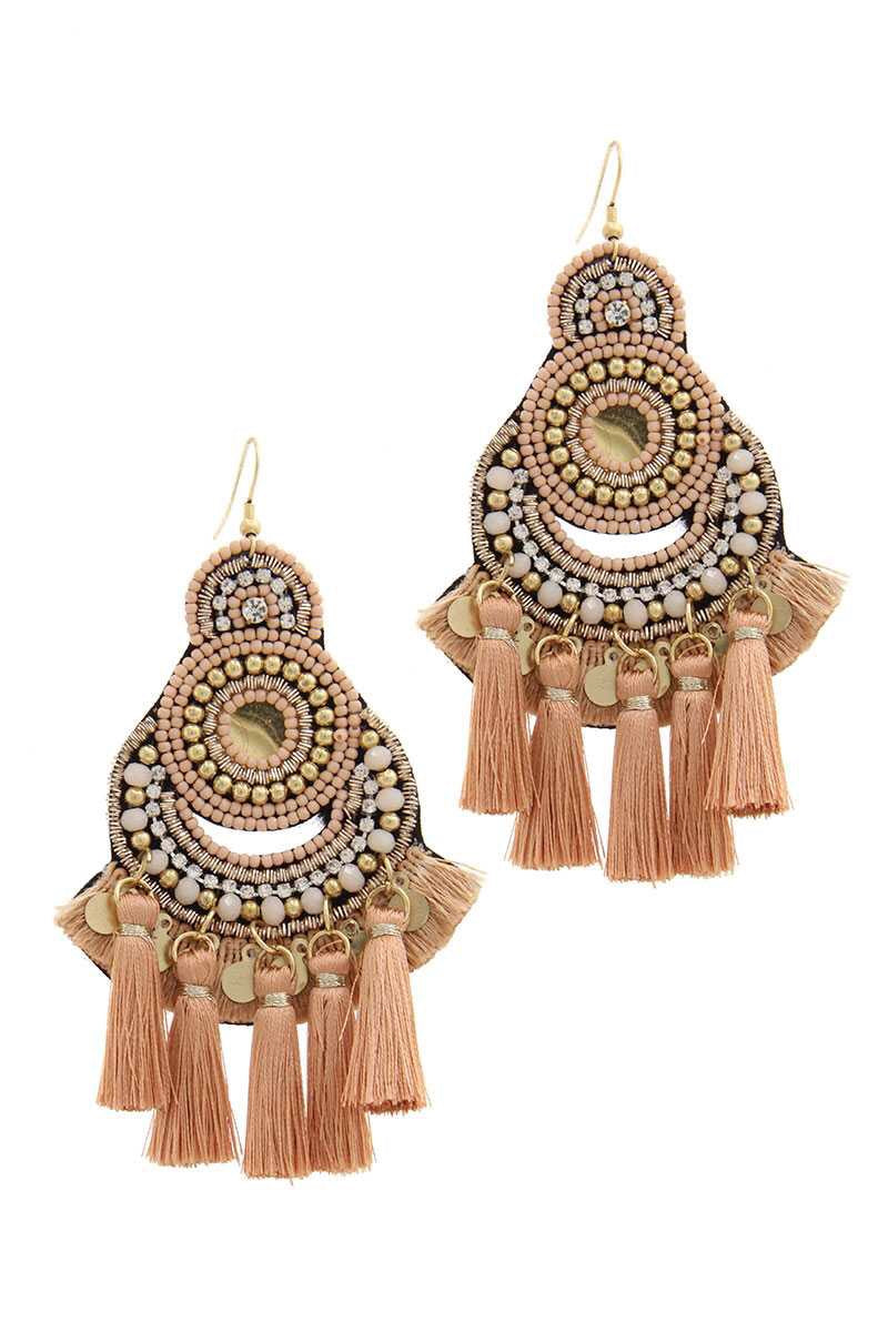 Budapest Beaded Tassel Earrings