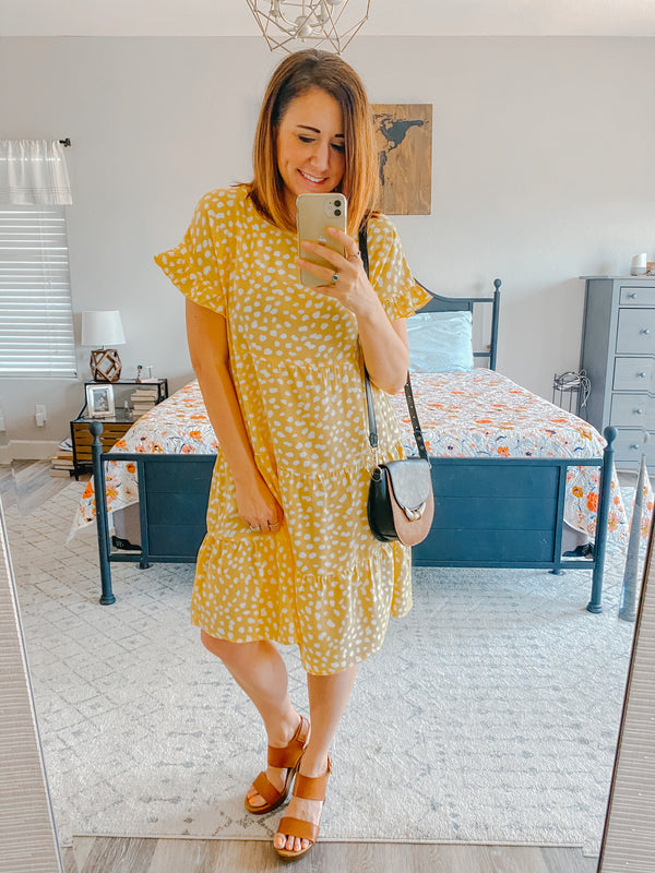 Spots and Ruffles Dress