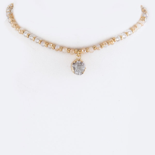 Rocky Point Druzy Choker Necklace