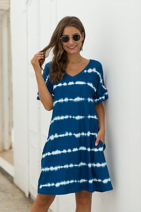 Hint of Summer T-shirt Dress