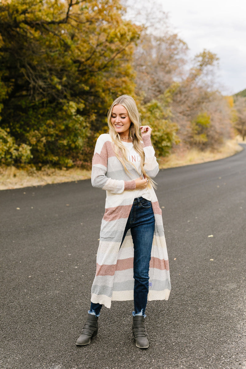 Serenity Striped Cardigan