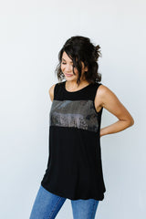 Sparkle Sleeveless Top