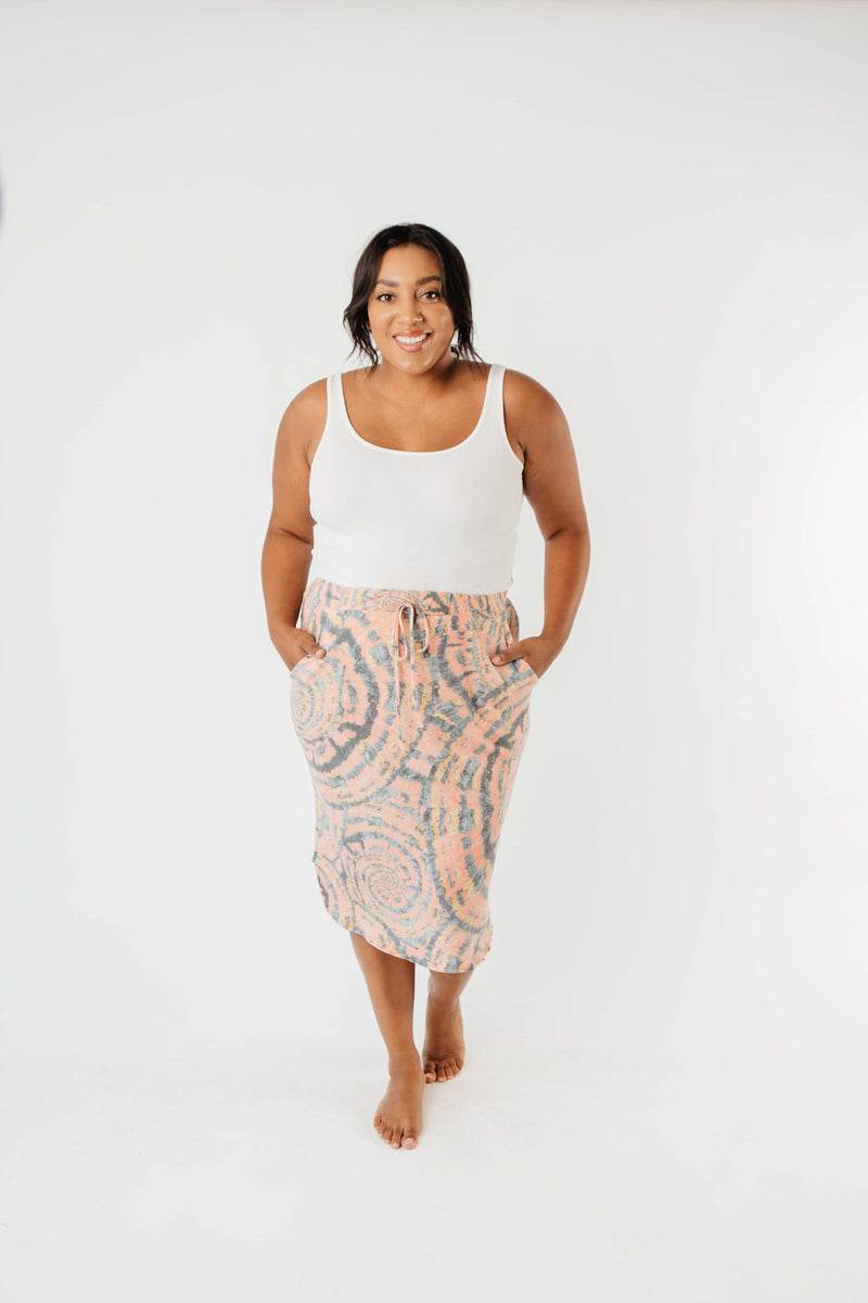 Swirl Power Drawstring Skirt