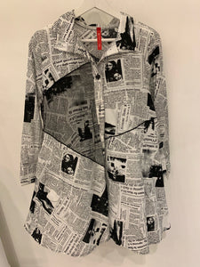 IC Collection Newsprint Jacket/Blouse