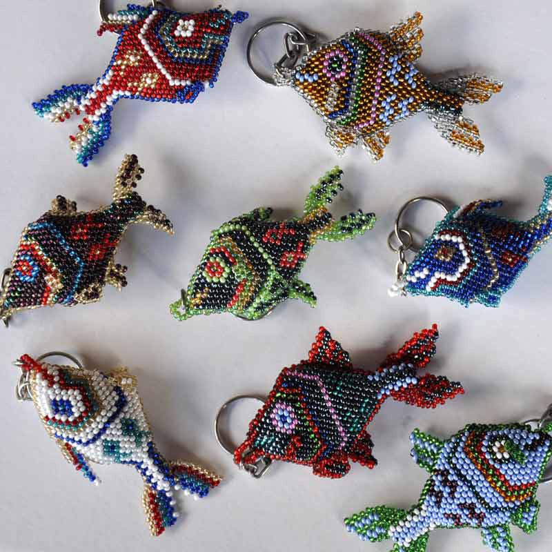 Beaded Fish Keychains