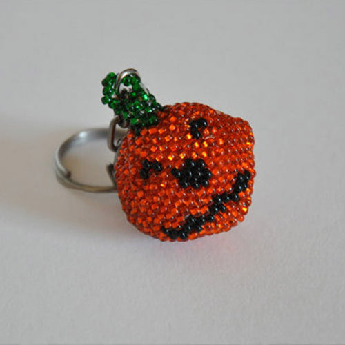 Beaded Pumpkin Keychains