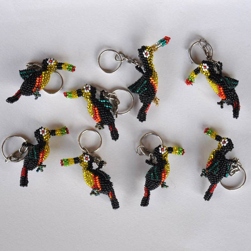 Beaded Toucan Keychains