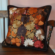 Brown Embroidered Pillow Case