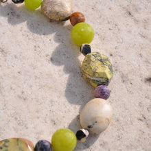 Green And Purple Stones Necklace