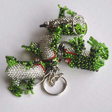 Hand Beaded Frog Keychains