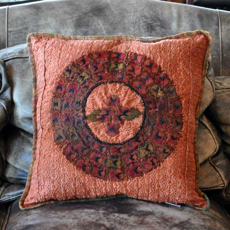 Orange Huipil Pillow Case