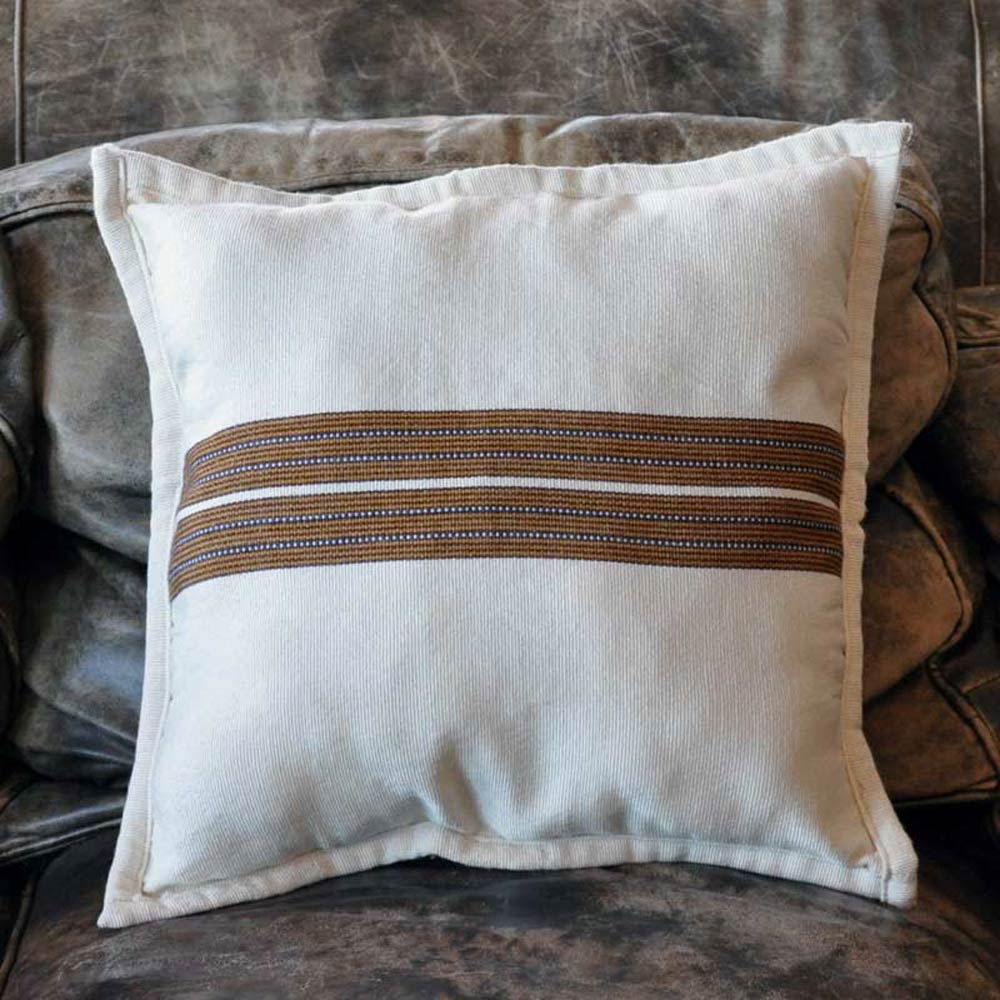 White Mayan Fabric Pillow Case