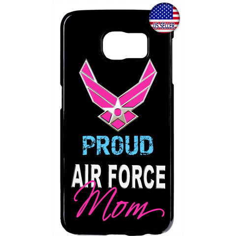 Proud US Air Force Mom United States Rubber Case Cover For Samsung Galaxy