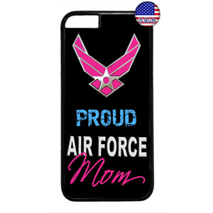 Proud US Air Force Mom United States Rubber Case Cover For Iphone