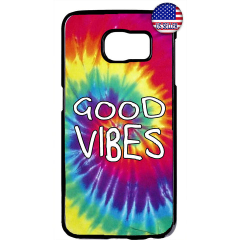 Good Vibes Hipster Tie Dye Hippie Rubber Case Cover For Samsung Galaxy