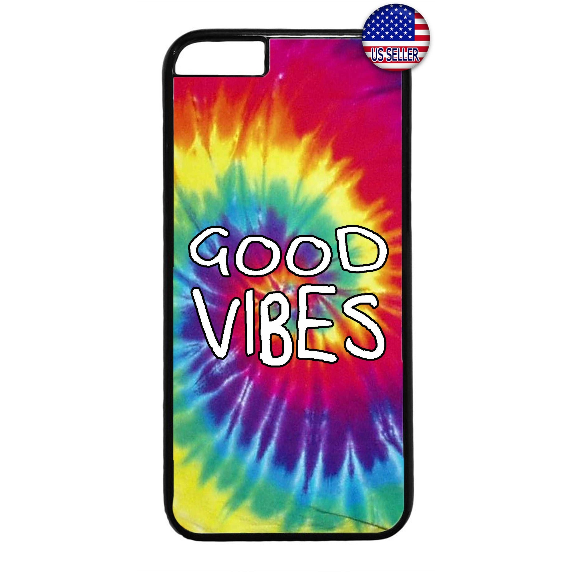 Hippie Tie Dye Good Vibes Hipster Rubber Case Cover For Iphone
