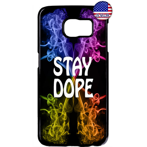 Cool Stay Dope Swag Pot Weed Marijuana Rubber Case Cover For Samsung Galaxy Note