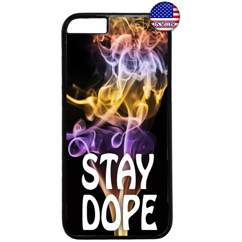 Cool Stay Dope Swag Pot Weed Marijuana Rubber Case Cover For Iphone