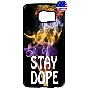 Stay Dope Swag Cool Pot Weed Marijuana Rubber Case Cover For Samsung Galaxy