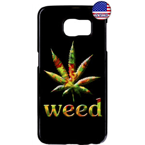 Weed Leaf Marihuana Smoking Pot Rubber Case Cover For Samsung Galaxy